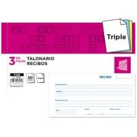 Talonario liderpapel recibos 3/fº original y 2 copias t336 sin matriz