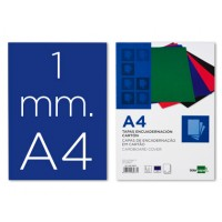 Tapa encuadernacion liderpapel carton a4 1mm azul