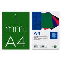 Tapa encuadernacion liderpapel carton a4 1mm verde