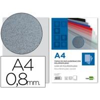 Tapa encuadernacion liderpapel polipropileno a4 0.8mm gris