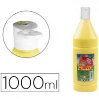 Tempera liquida jovi escolar 1000 ml amarillo claro.