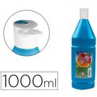 Tempera liquida jovi escolar 1000 ml azul cyan.