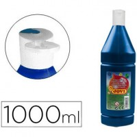 Tempera liquida jovi escolar 1000 ml azul ultramar.
