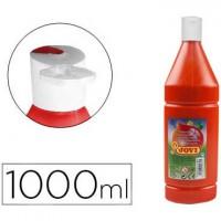 Tempera liquida jovi escolar 1000 ml bermellon.