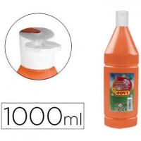 Tempera liquida jovi escolar 1000 ml naranja.