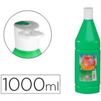 Tempera liquida jovi escolar 1000 ml verde medio.