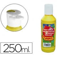 Tempera liquida jovi escolar 250 ml amarillo.