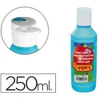 Tempera liquida jovi escolar 250 ml azul cyan.