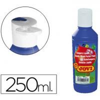 Tempera liquida jovi escolar 250 ml azul ultramar.