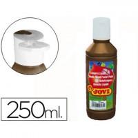 Tempera liquida jovi escolar 250 ml marron.