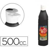Tempera liquida jovi escolar 500 ml negro.