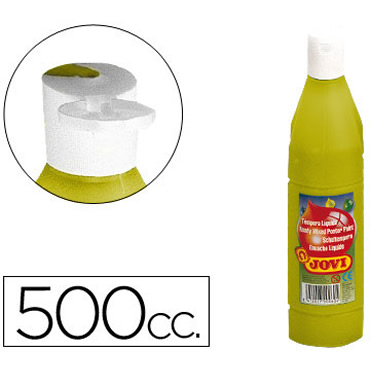 Tempera liquida jovi escolar 500 ml oro.