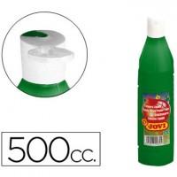 Tempera liquida jovi escolar 500 ml verde oscuro.