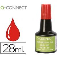 Tinta tampon q-connect rojo -frasco de 28 ml.