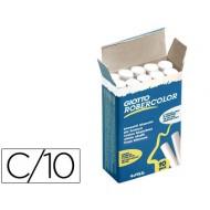 Tiza blanca antipolvo robercolor -caja de 10 unidades