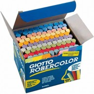Tiza color antipolvo robercolor -caja de 100 unidades